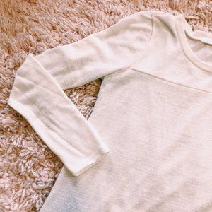 Reborn J Sweaters - Reborn J White Side-Button Long Sleeve Sweater
